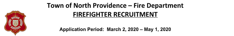 North Providence Fire Department, RI Firefighter Jobs